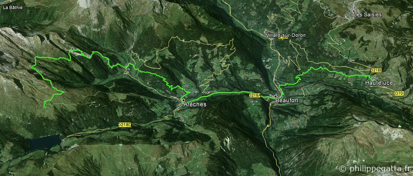 Map of day 3, GRP Tour du Beaufortain (© P. Gatta)