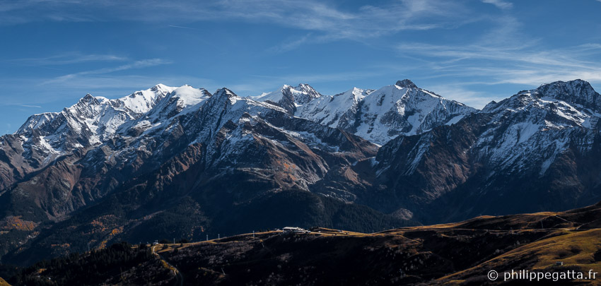 Mont Blanc Massif seen from Col du Joly (© P. Gatta)