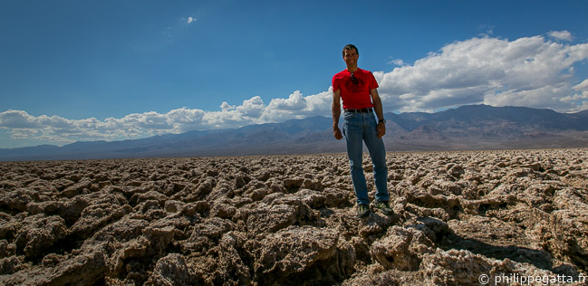 Badwater bassin and its Salt Flat (© A. Gatta)