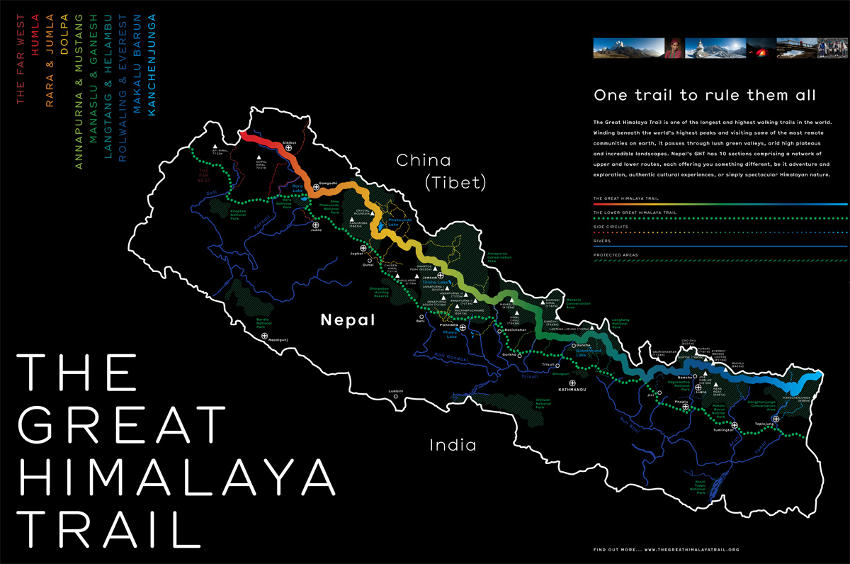 GHT map, courtesy of http://thegreathimalayatrail.org/