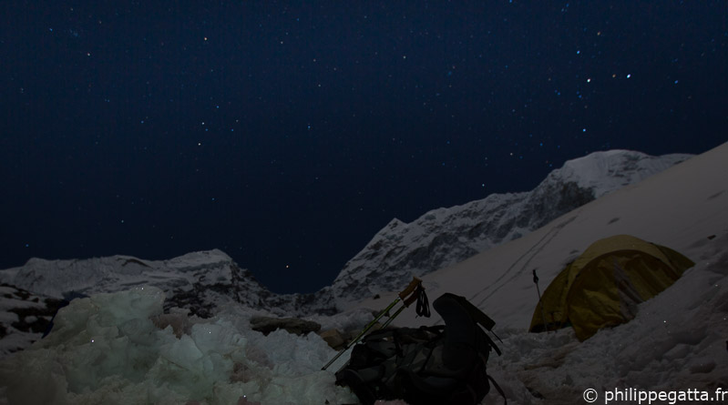Nuit au camp de base l'Island Peak, Everest (© A. Gatta)