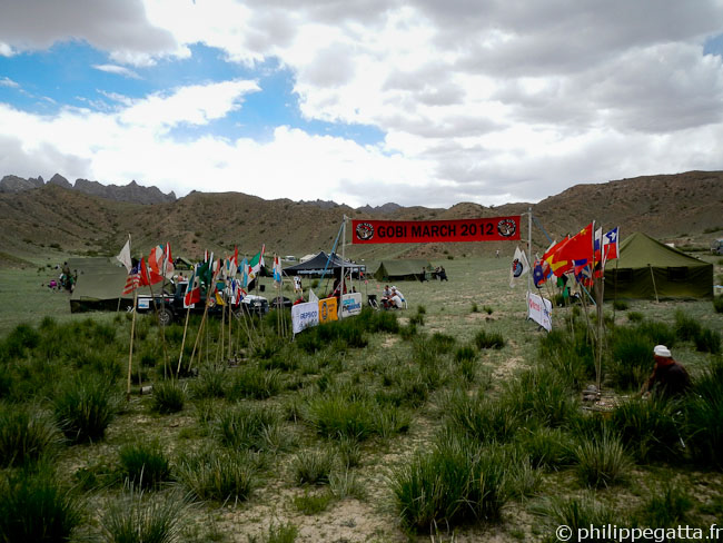 Camp at the end of Gobi March stage 3 (� P. Gatta)
