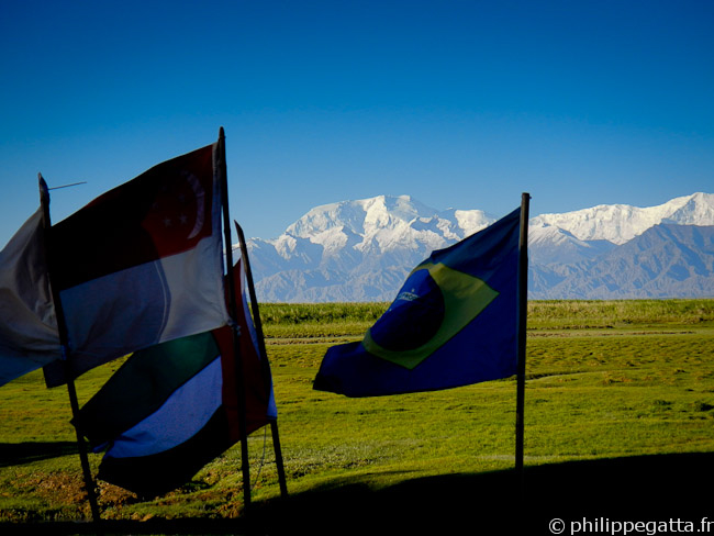 The Kongur (7,649 m), seen from the camp (� P. Gatta)