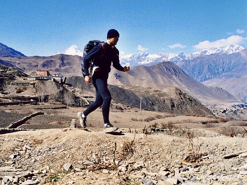 Philippe at Muktinath (© P. Gatta)