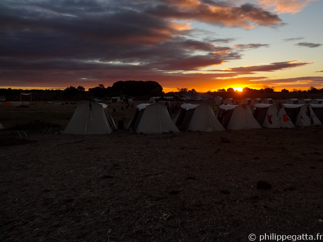 Another nice sunset on the camp (© P. Gatta)