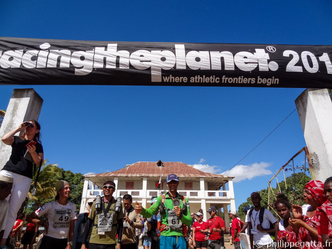 Finish line of the Madagascar Race