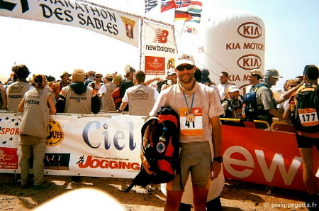 Finish line of the 21st Marathon des Sables (� P. Gatta)