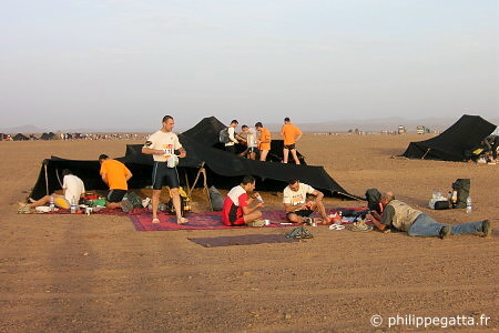 Our tent at the bivouac (� P. Gatta)