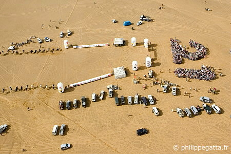 Start of the 21st Marathon des Sables (� P. Gatta)