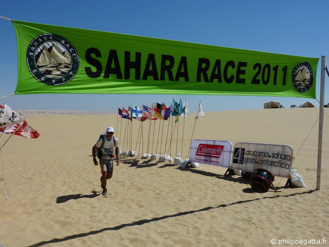 Sahara race: stage 2 finish line (� P. Gatta)