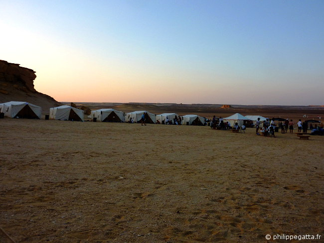Sahara race: today's camp at sunset (� P. Gatta)