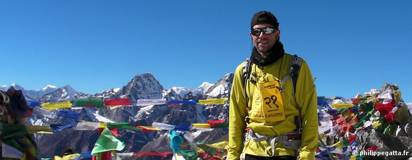Philippe at the Cho La pass, 5330 m (� A. Gatta)