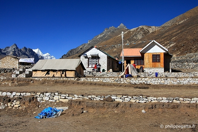 End of the stage at Lungdeng (4470 m) (� P. Gatta)