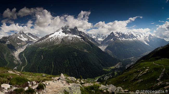 TMB: amazing view going to Flégère (© P. Gatta)