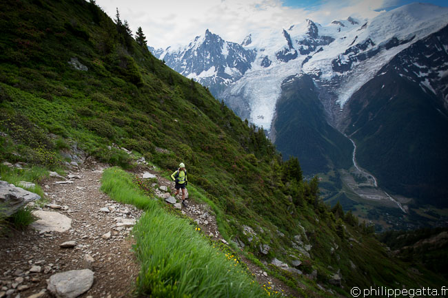 TMB: descent from Bellachat to les Houches (© P. Gatta)