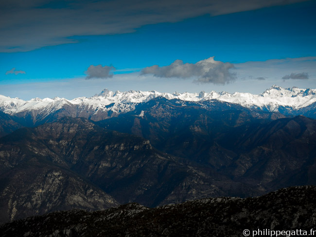 View over the Alps from the Mont Vial (© Philippe Gatta)