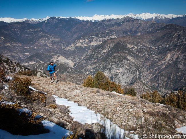 Philippe, Mont Vial with the Alps behind (© Anna Gatta)