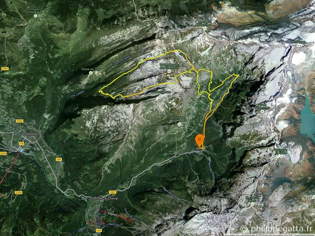 Map of our 28 km Trail (© P. Gatta)