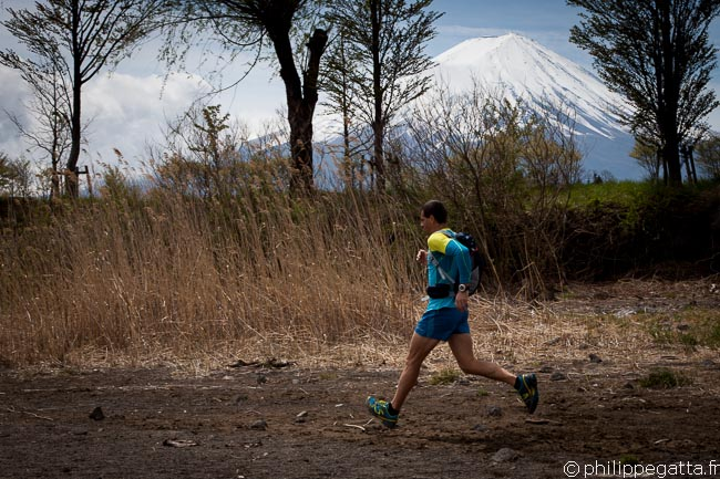 Philippe at Yagisaki-Kouen with Mt. Fuji behind (© Anna Gatta)
