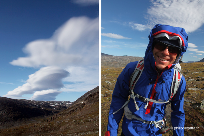 Fantastic cloud formations due to the strong, arctic wind (© A. Gatta)